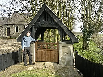 Lychgate in oak for St. Clements, Saltfleetby. gate built in spring 2012 by Peter Millburn