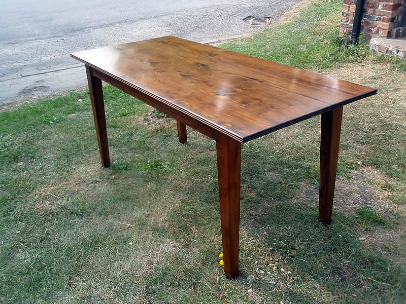 Yew wood table, made to customer's own design