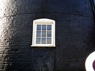 windows to converted windmill.