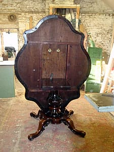 Antique Table repairs by Peter Millburn Tradi19th century rosewood tilt-top table