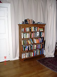 One of a pair of bookcases