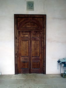 Large oak doors
